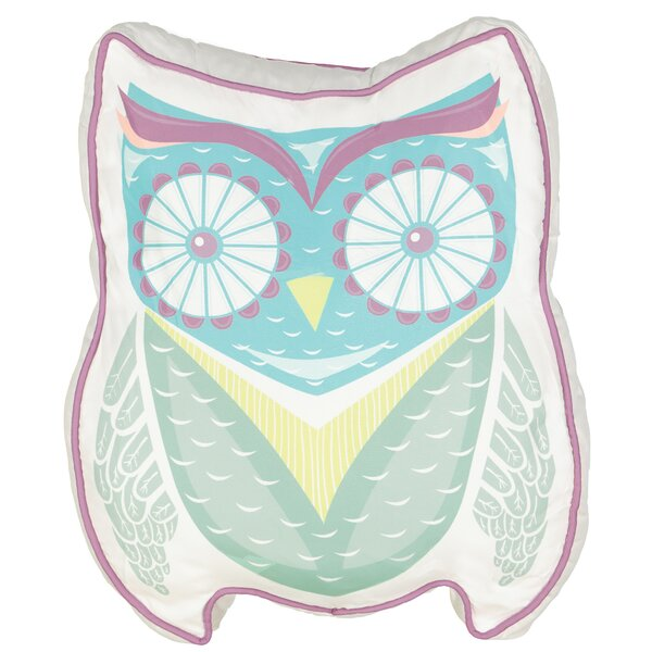 Hoo Dreams Kids Owl Novelty Throw Pillow by Waverly