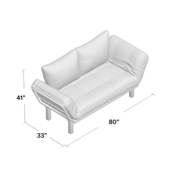 #1 Everett Convertible Lounger Futon And Mattress By Ebern Designs Amazing