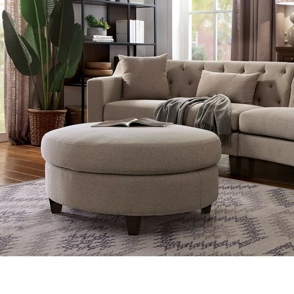 Schaffer Contemporary Tufted Ottoman by Canora Grey