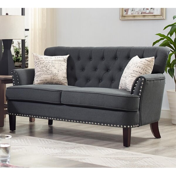 Quayle Chesterfield Loveseat by Canora Grey