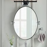 Glenshire Contemporary Beveled Frameless Vanity Mirror by Moen