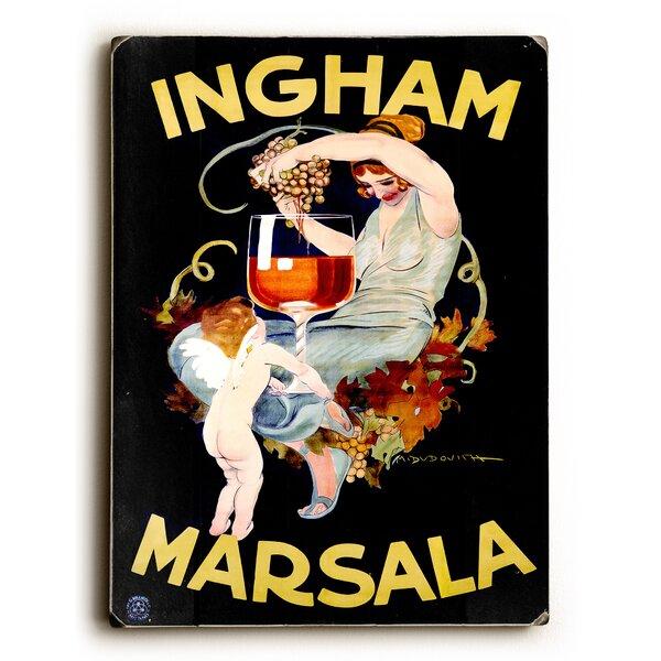 Ingham Marsala Wine Vintage Advertisement by Artehouse LLC