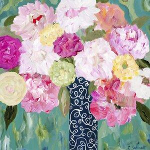 Botanical Splash Painting Print by Prestige Art Studios