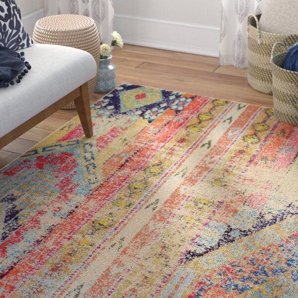 Newburyport Orange Area Rug by Mistana