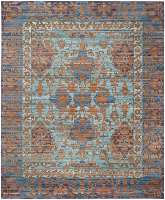 Abby Blue Gold Area Rug
