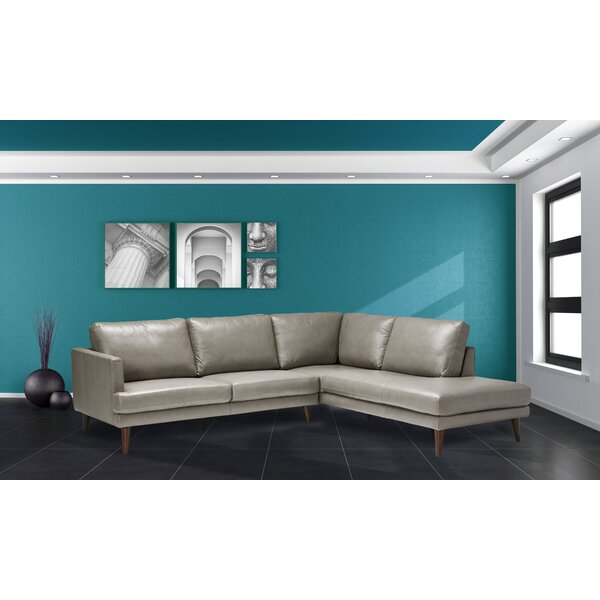 Corringham Leather Sectional by Corrigan Studio