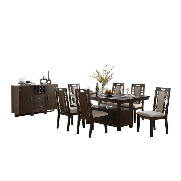 Bobkona Parker 8 Piece Dining Set by Poundex