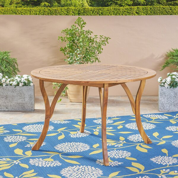 Balhi Wooden Dining Table by Breakwater Bay