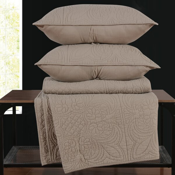 Ellert Egyptian-Quality Cotton Reversible Quilt Set by Ophelia & Co.