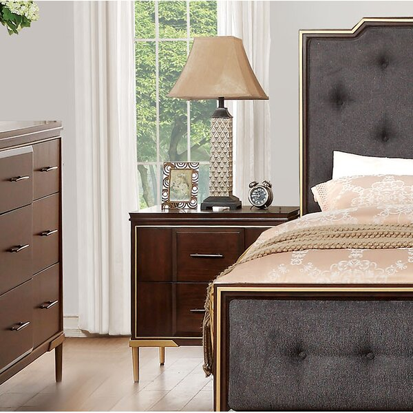 Laufer 2 Drawer Nightstand by Everly Quinn