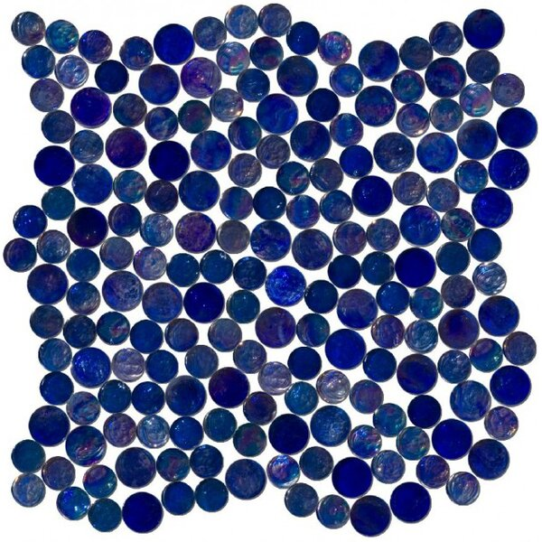 0.75 x 0.75 Glass Mosaic Tile in High-Gloss Blue by Susan Jablon