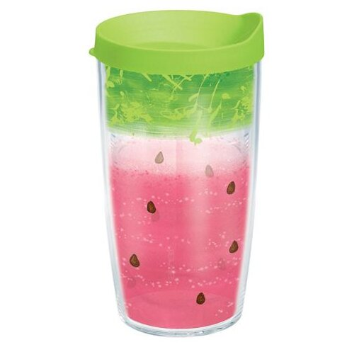 Eat Drink Be Merry Watermelon Splash Plastic Travel Tumbler by Tervis Tumbler