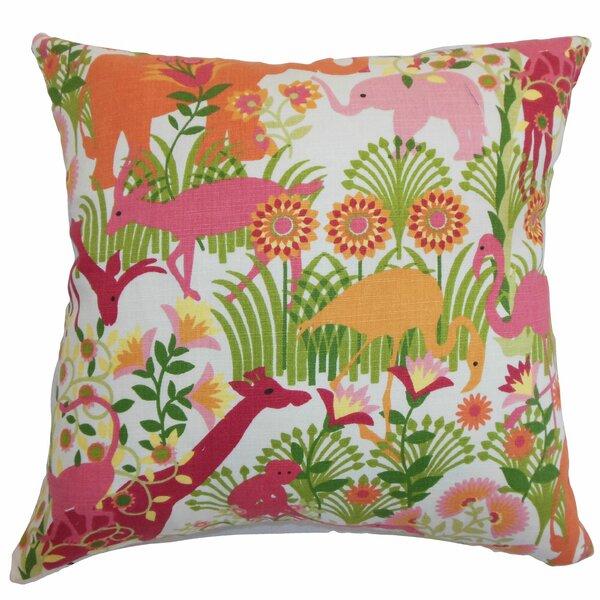 Bristol Flora & Fauna Floor Pillow by Bayou Breeze