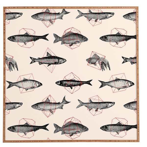 Fishes In Geometrics Framed Graphic Art by East Urban Home