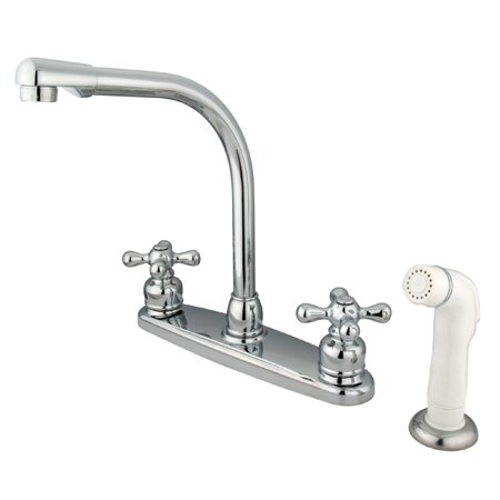 Victorian Double Handle Kitchen Faucet with Side Spray