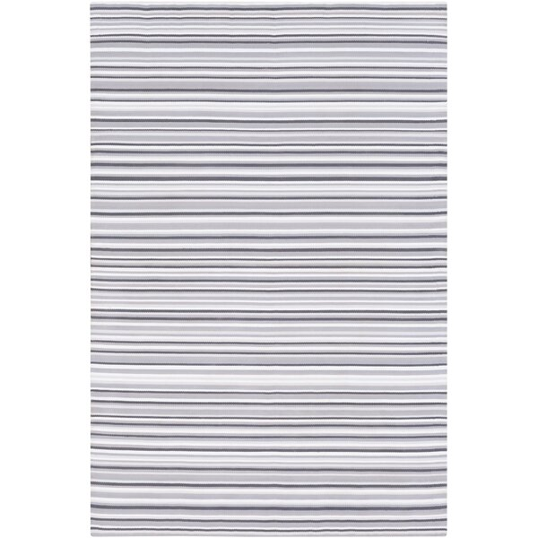 Bybrook Hand Woven Gray/White Area Rug by Rosecliff Heights