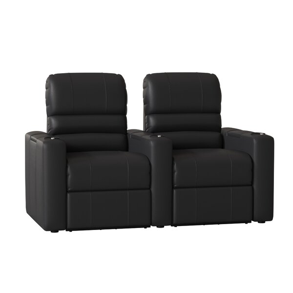 Blue LED Home Theater Row Seating (Row Of 2) By Latitude Run