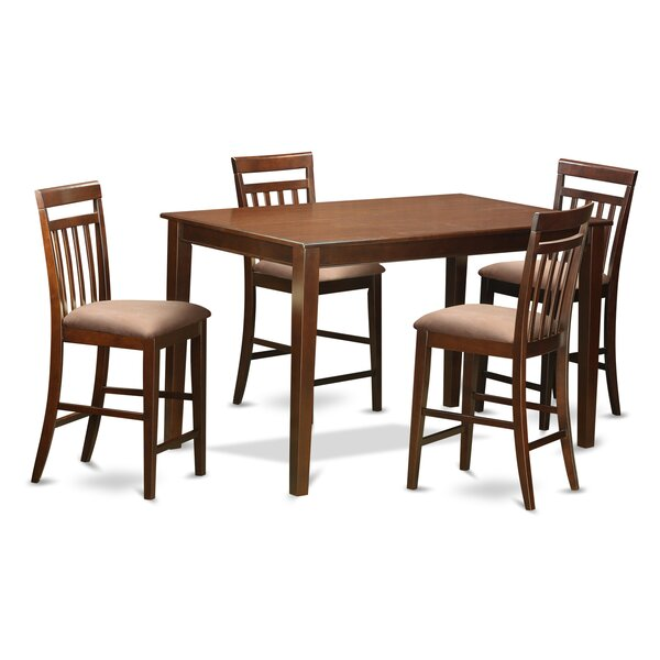 Araminta 5 Piece Counter Height Pub Table Set By Alcott Hill Great Reviews