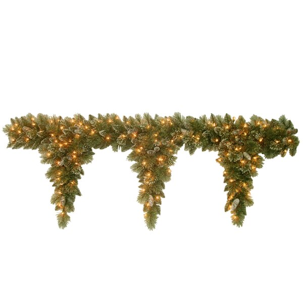 Glittery Pine Pre-Lit Teardrop Garland by Andover Mills