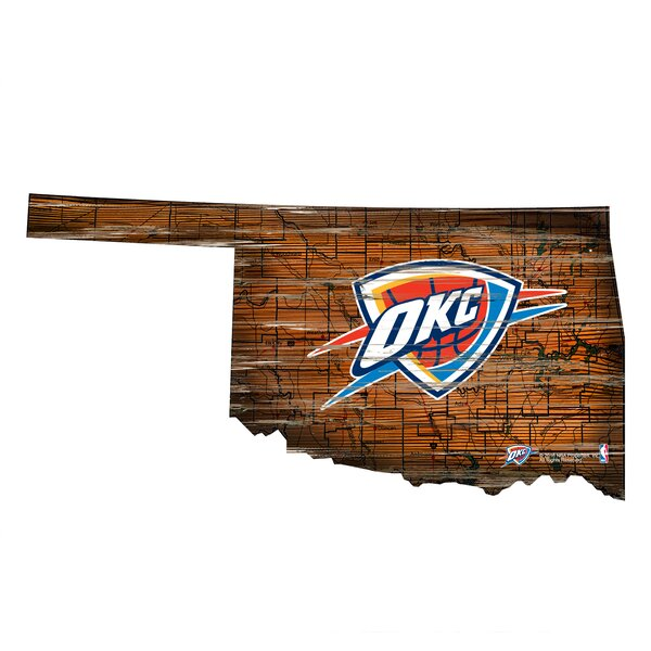 NBA Thunder Distressed State Wall Décor by Fan Creations