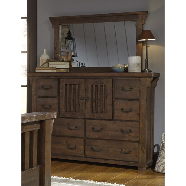 Buckleys 8 Drawer Combo Dresser with Mirror by Loon Peak