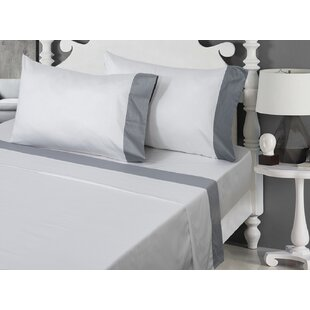 400 Thread Count Solid 100% Cotton Sheet Set ByCanora Grey