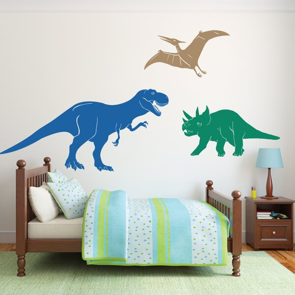 3 Piece Medium Dinosaurs Wall Decal Set by Sissy Little