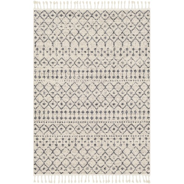 Hudgens Distressed Southwestern Ivory/Charcoal Area Rug by Laurel Foundry Modern Farmhouse
