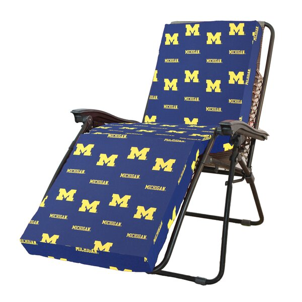 NCAA Michigan Indoor/Outdoor Chaise Lounge Cushion by College Covers