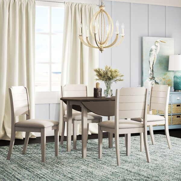 Kinsey 5 Piece Drop Leaf Dining Set by Rosecliff Heights