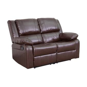 Red Barrel Studio Lospalmos 63 Wide Faux Leather Pillow Top Arm Reclining Loveseat Reviews Wayfair