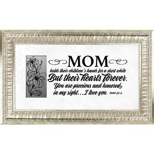 'Mom' Framed Textual Art by The James Lawrence Company