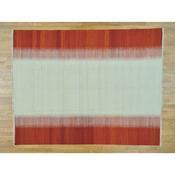 One-of-a-Kind Bessey Reversible Handmade Kilim Ivory Wool Area Rug by Isabelline