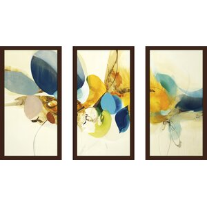 'Candid Color' Framed Acrylic Painting Print Multi-Piece Image on Glass by Latitude Run