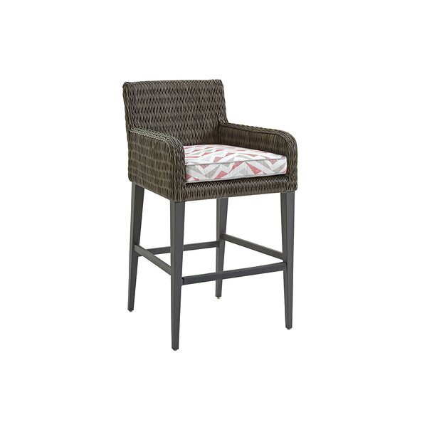 Cypress Point Ocean Terrace 31.5 Patio Bar Stool with Cushion by Tommy Bahama Outdoor