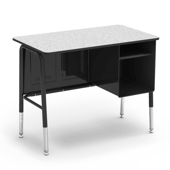Manufactured Wood Adjustable Height Student Computer Desk by Virco