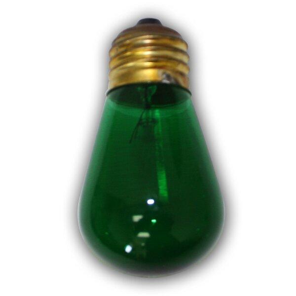 11W Green E26 Incandescent Vintage Filament Light Bulb by Aspen Brands