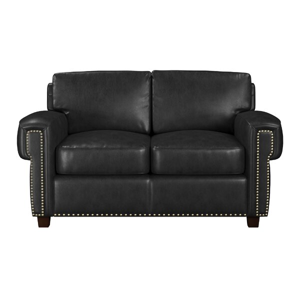 Sioux Leather Loveseat by Westland and Birch Westland and Birch