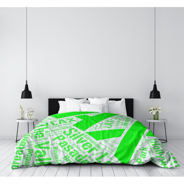 Los Angeles California Districts Single Reversible Duvet Cover