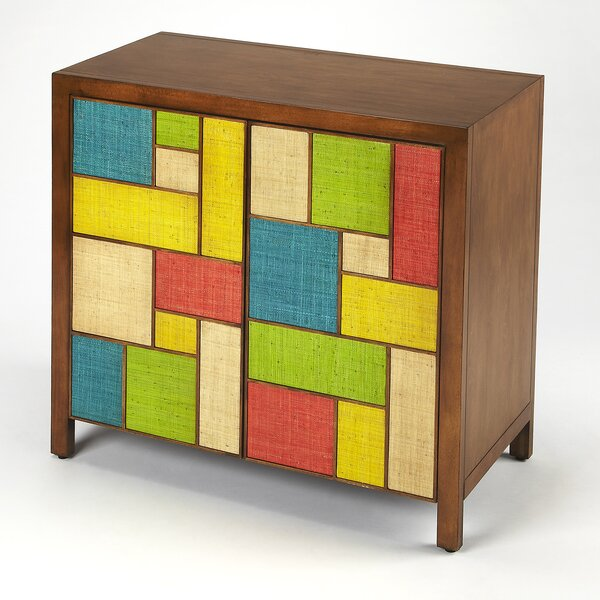 Deberry Composition Raffia Console 2 Door Accent Cabinet by Brayden Studio Brayden Studio