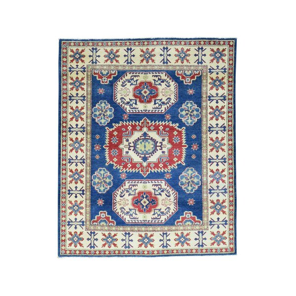 One-of-a-Kind Tillotson Hand-Knotted Navy Blue Area Rug by Millwood Pines