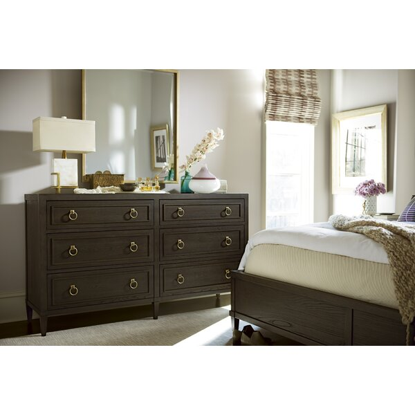 Garton 6 Drawer Double Dresser with Mirror by Everly Quinn