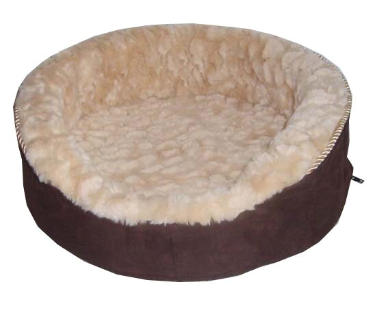 Plush Bolster Dog Bed by Best Pet Supplies