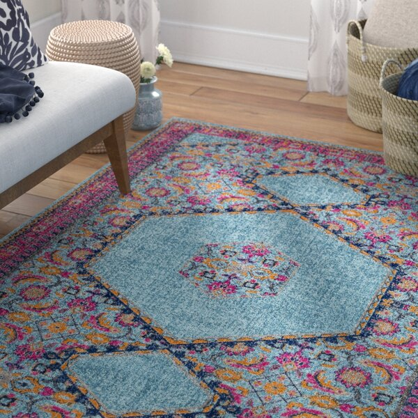 Arabi Tibetan Blue/Pink Area Rug by Bungalow Rose