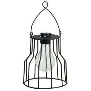 Compare Wilson Solar Powered 1-Light LED Outdoor Metal Hanging Lantern By Williston Forge