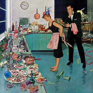 After Party Clean-up by Ben Kimberly Prins Painting Print on Wrapped Canvas by Marmont Hill