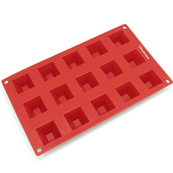 15 Cavity Mini Pyramid Silicone Mold Pan by Freshware