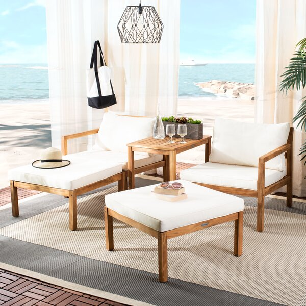 Eastway Outdoor 9 Piece Seating Group with Cushions by Highland Dunes