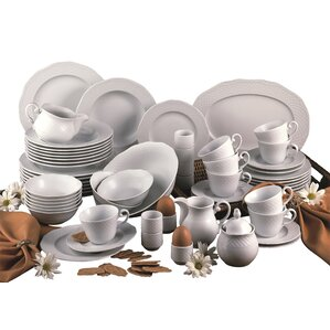 arianne 61 piece dinnerware set with mug service for 8