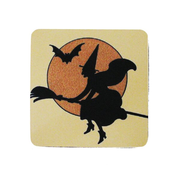 Witch with Outline Coaster (Set of 8) by Golden Hill Studio